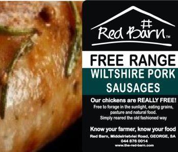 free range prices Pork sausage