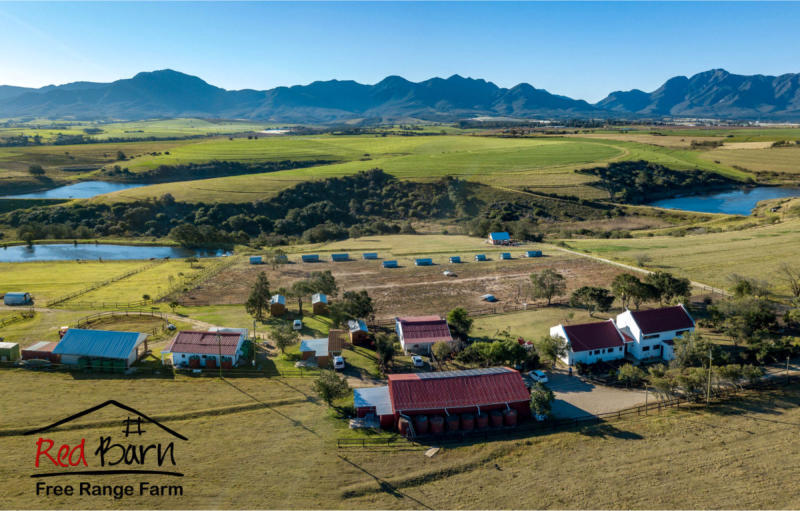 Red Barn aerial view
